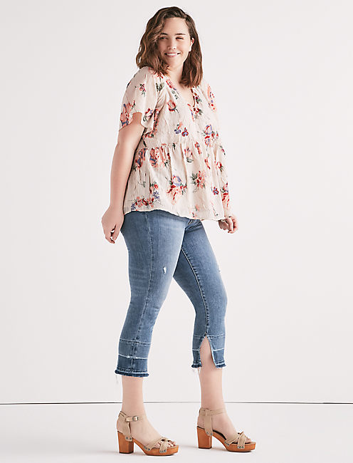 Lucky Floral Flutter Top