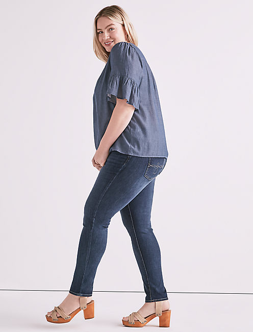 Lucky Chambray Top