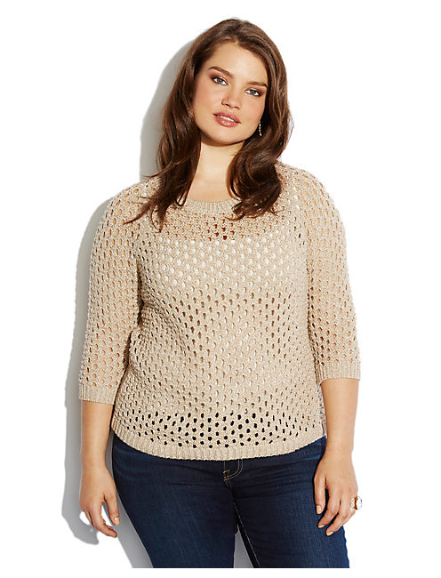 MARISSA METALLIC SWEATER, NATURAL MULTI