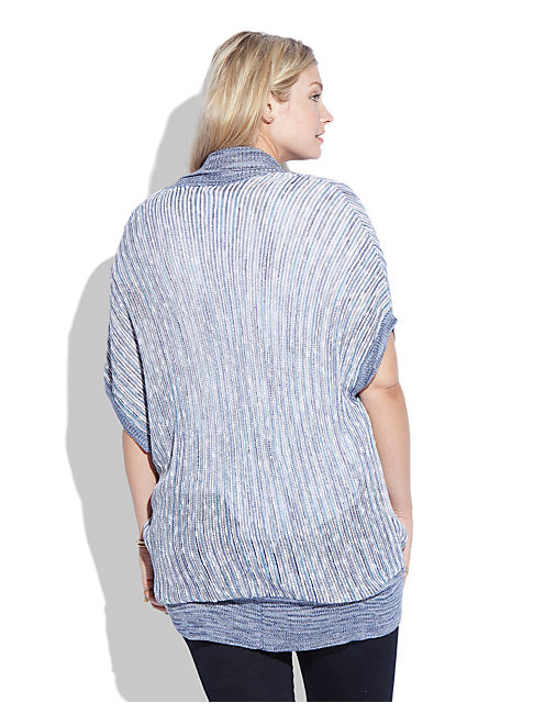 SPACE DYE SHRUG, BLUE MULTI