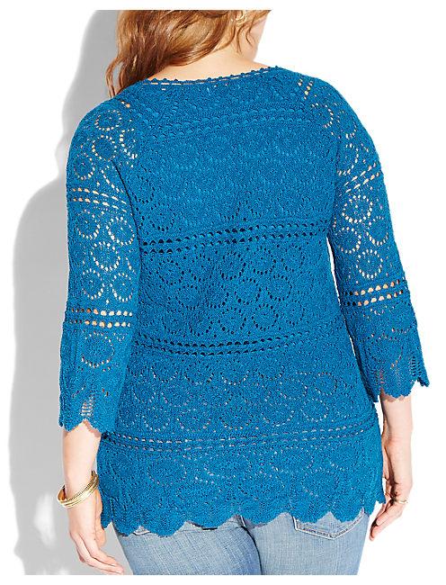 CROCHET SAPPHIRE TUNIC7w5, #40095 BLUE SAPPHIRE
