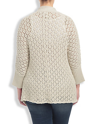 LUCKY TEXTURED COCOON CARDIGAN