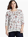FLORAL PRINTED PULLOVER,