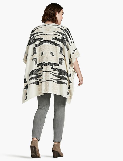 SANTA FE PONCHO, NATURAL MULTI