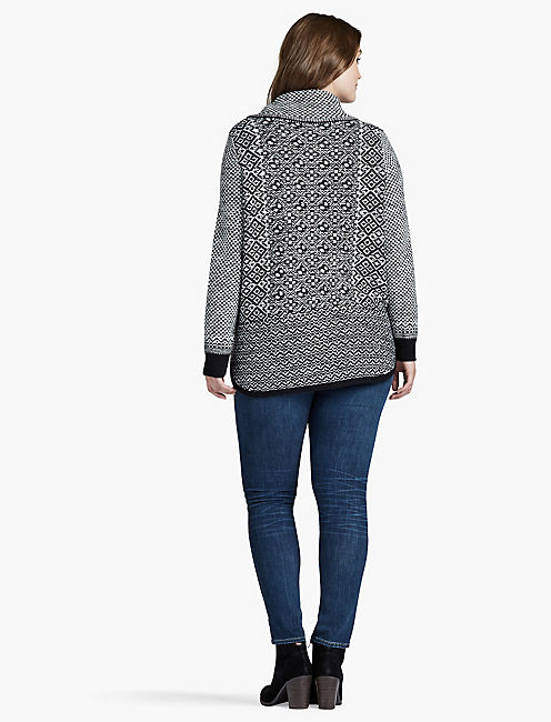 SIDE ZIP PATTERN SWEATER,