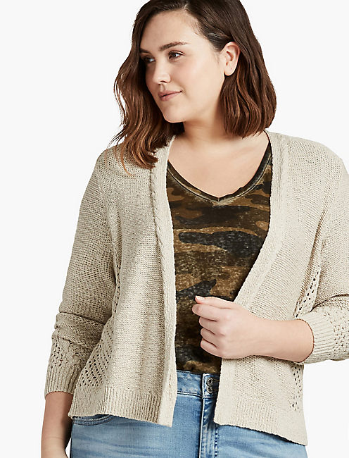 OPEN STITCH CARDIGAN,