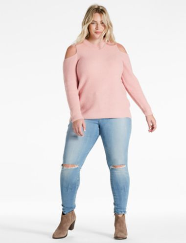 Lucky Cold Shoulder Pullover