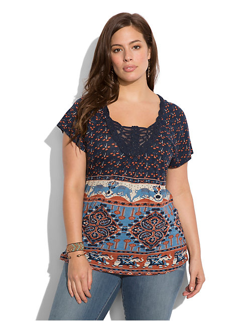 ELEPHANT BAZAAR TOP, MULTI