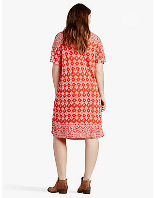 LUCKY TILE PRINT DRESS