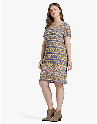 LUCKY PAISLEY PRINT DRESS