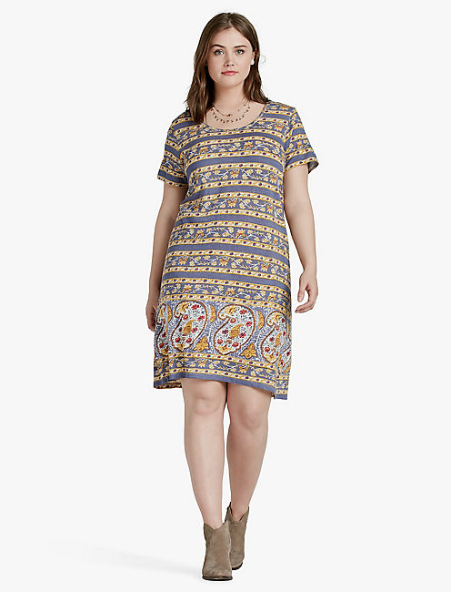 LUCKY PAISLEY PRINT DRESS