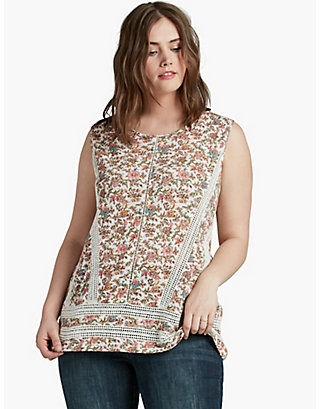 LUCKY FLORAL PRINT SHELL