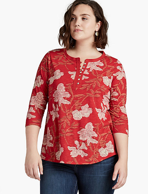RED FLORAL TOP,