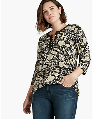 LUCKY BLACK FLORAL TOP