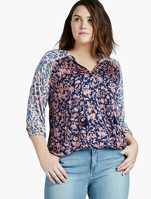 MIXED FLORAL TOP,