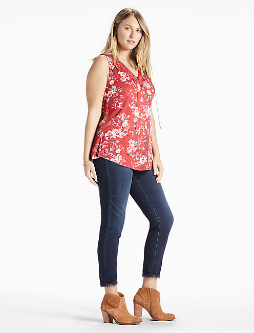 Lucky Wildflower Lace Tank