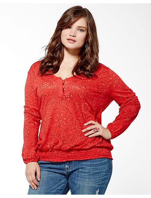 SUNDIAL CONNIE TOP, RED MULTI