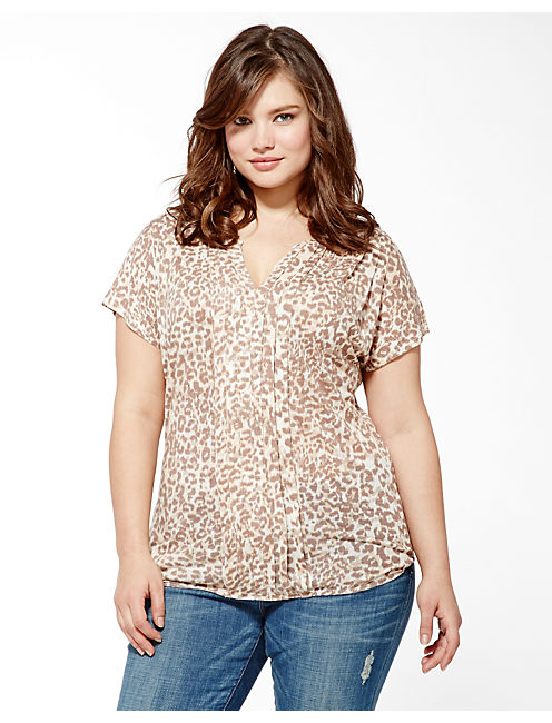 CHEETAH IRIS TOP,