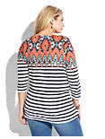 IKAT BOAT NECK TOP, MULTI