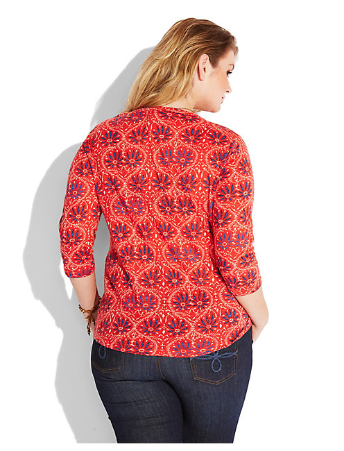 PAISLEY FLORAL TOP, MULTI