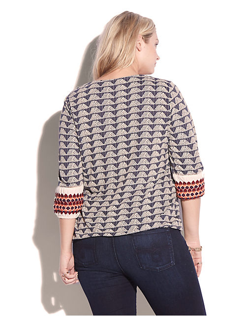 JOPLIN EMBROIDERED TOP, BLUE MULTI