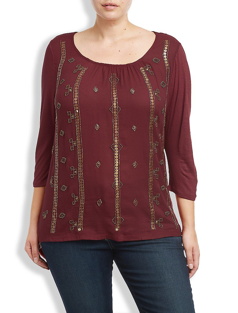 Lucky Brand Beaded Top Womens $27.98 AT vintagedancer.com
