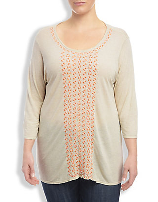LUCKY CASCADING EMBROIDERY TOP