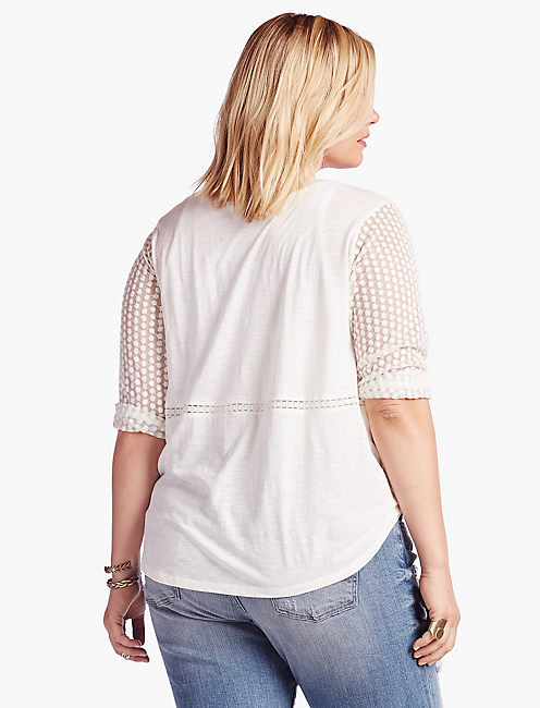 LACE PEASANT TOP,