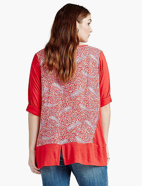 LUCKY PAISLEY PRINTED TOP