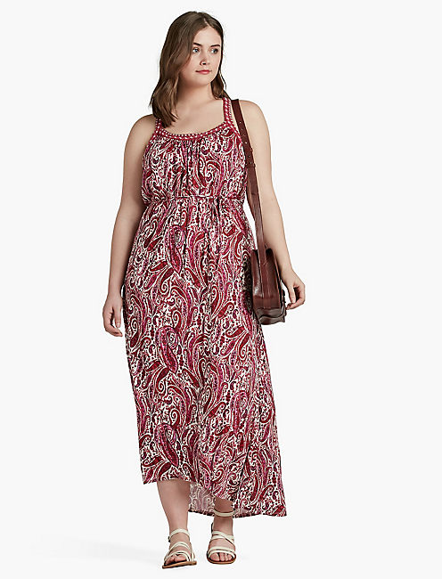 LUCKY PINK PAISLEY MAXI