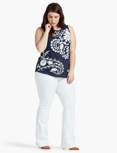 LUCKY EMBROIDERED PAISLEY TANK
