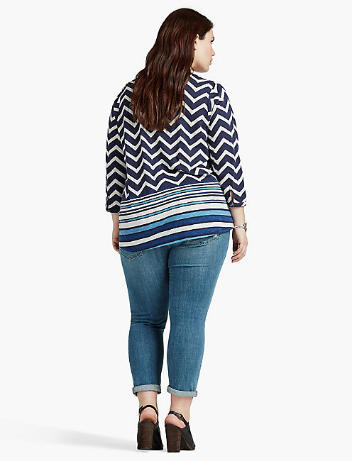 LUCKY CHEVRON PRINT TOP