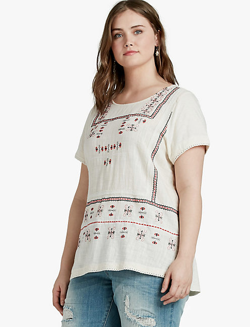 EMBROIDERED TEE,