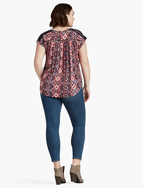 INSET LACE TOP,