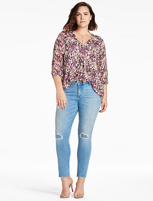 LUCKY FLORAL PRINTED TOP