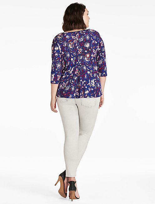 FLORAL SWING TOP,