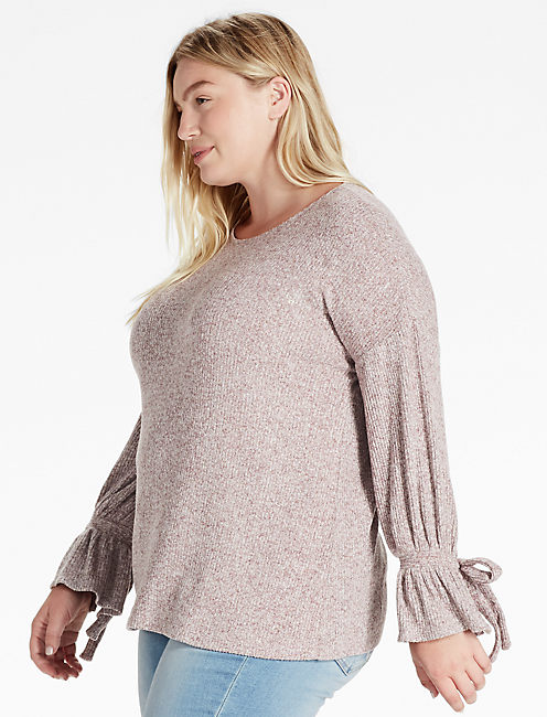 TIE SLEEVE PULLOVER,