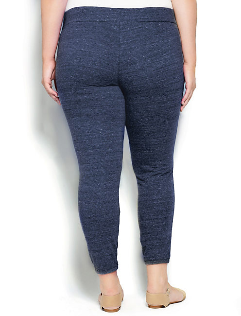 MILA STUDDED SWEATPANT, NAVY HEATHER