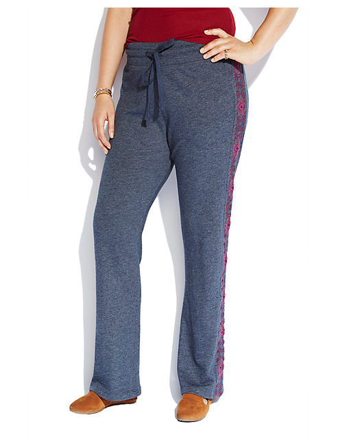 EMBROIDERED SWEATPANT, HEATHER NAVY