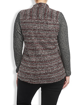LUCKY SWEATER MIXED WRAP
