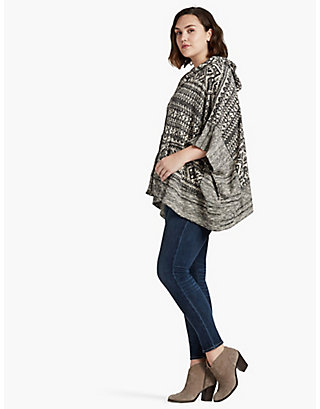 LUCKY JACQUARD TERRY PONCHO