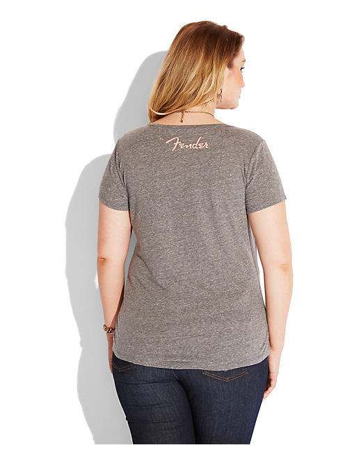 FENDER AMERICANA TEE, HEATHER GREY