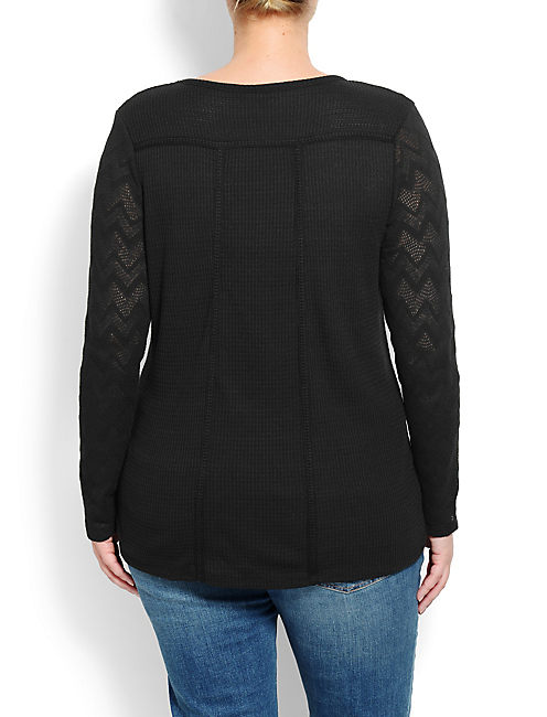 GINNY LACE THERMAL, 001 LUCKY BLACK