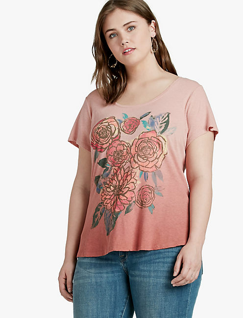 WASHED BOUQUET TEE,