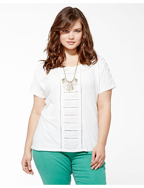 ALICE CUT OUT TOP, LUCKY WHITE