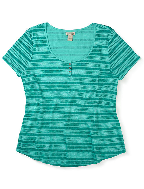 STRIPE TEE, GREEN MULTI