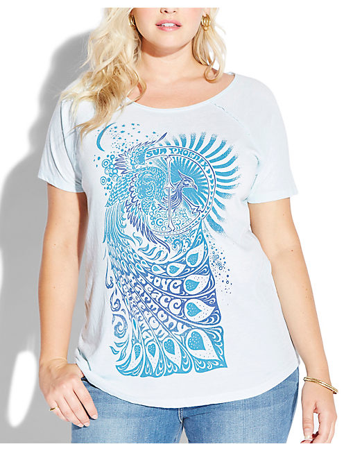 MANTRA BIRD TEE, #40094 STARLIGHT BLU