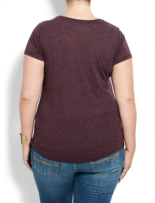 TIGER STAMP  TEE, #6725 FALL RED