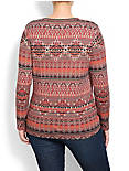 INTARSIA PRINTED THERMAL, RED MULTI