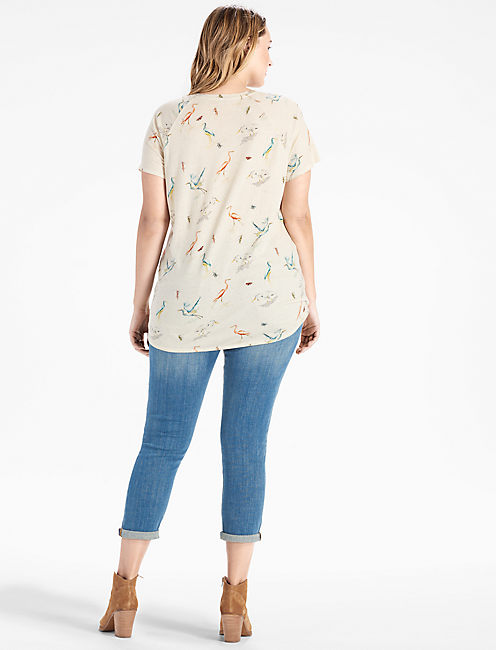 ALLOVER BIRDS TEE,